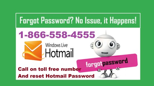 If you are unable to reset or change hotmail password, you can call our expert at toll free number at 1-866-558-4555.