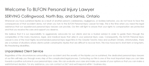 BLFON Personal Injury Lawyer