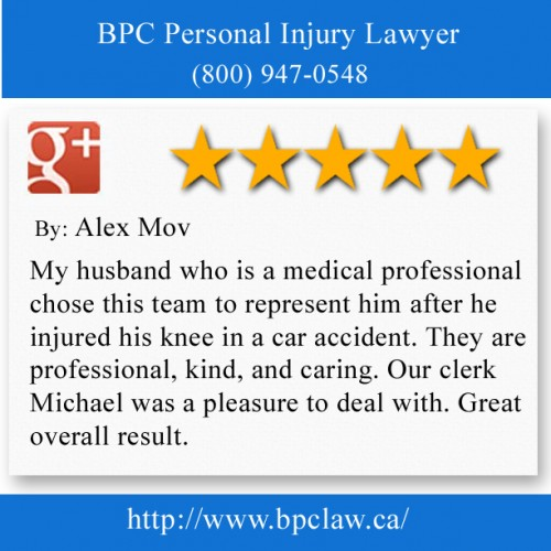 BPC Personal Injury Lawyer 204-3582 Major MacKenzie Dr W,  Woodbridge, ON, L4H 3T6, Canada (800) 947-0548  http://www.bpclaw.ca/Woodbridge.html