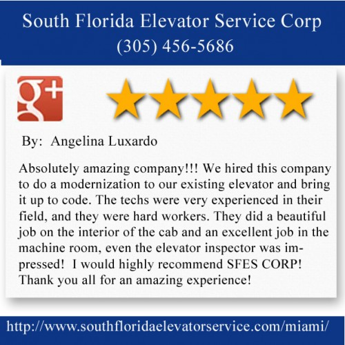 South Florida Elevator Service Corp. 6956 NW 51st ST Miami FL 33166 (305) 456-5686  http://www.southfloridaelevatorservice.com/miami/