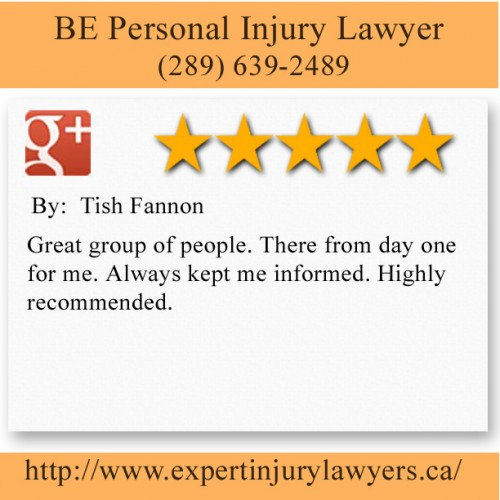 BE Personal Injury Lawyer 5063 N Service Rd #200,  Burlington, ON L7L 5H6 (289) 639-2489  https://beinjurylawyers.ca/burlington-personal-injury-lawyer.html