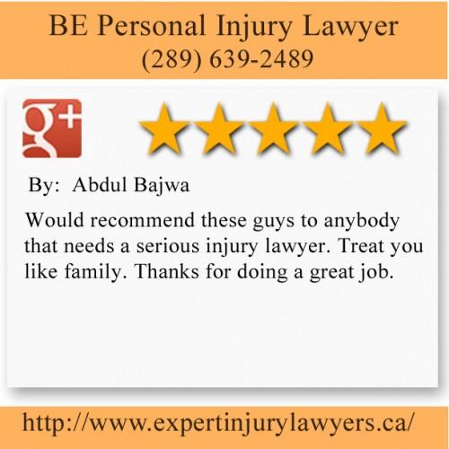 BE Personal Injury Lawyer 5063 N Service Rd #200,  Burlington, ON L7L 5H6 (289) 639-2489  https://beinjurylawyers.ca/burlington-personal-injury-lawyer.html