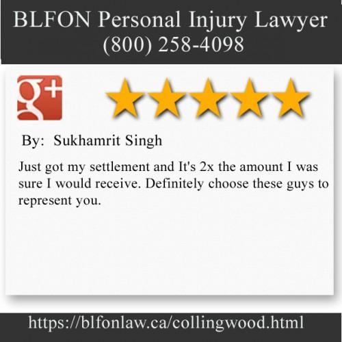 BLFON Personal Injury Lawyer 35 4th Street East #3 Collingwood, ON L9Y 1T2 (800) 258-4098  https://blfonlaw.ca/collingwood.html