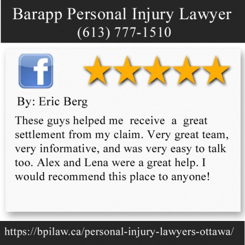Barapp Personal Injury Lawyer 563 Gladstone Ave Suite 25B Ottawa, Ontario, K1R 5P2 (613) 777-1510  https://bpilaw.ca/personal-injury-lawyers-ottawa/