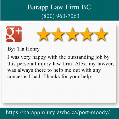 Barapp Law Firm BC 2227 Saint Johns Street Port Moody, BC V3H 2A6 (800) 960-7063  https://barappinjurylawbc.ca/port-moody/