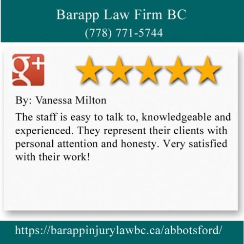 Barapp Law Firm BC 32310 S Fraser Way Abbotsford, BC V2T 1X1 (778) 771-5744  https://barappinjurylawbc.ca/abbotsford/