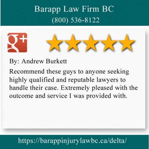 Barapp Law Firm BC 204-6935 120 St Delta, BC V4E 2A8 (800) 536-8122  https://barappinjurylawbc.ca/delta/