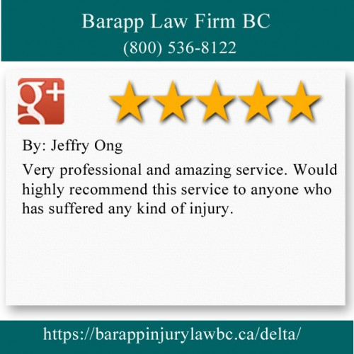 Barapp Law Firm BC 204-6935 120 St Delta, BC V4E 2A8 (800) 536-8122  https://barappinjurylawbc.ca/delta/