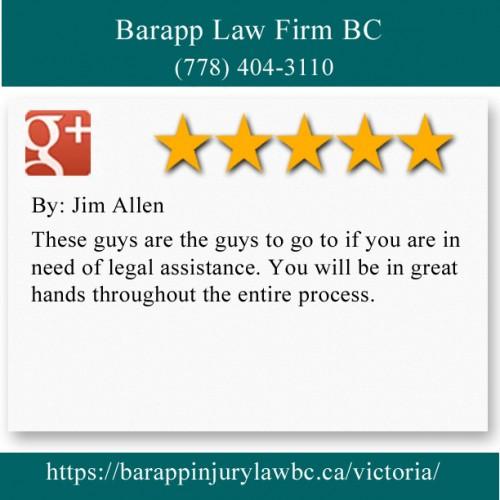 Barapp Law Firm BC 310-2722 Fifth St Victoria, BC V8T 4B2 (778) 404-3110  https://barappinjurylawbc.ca/victoria/