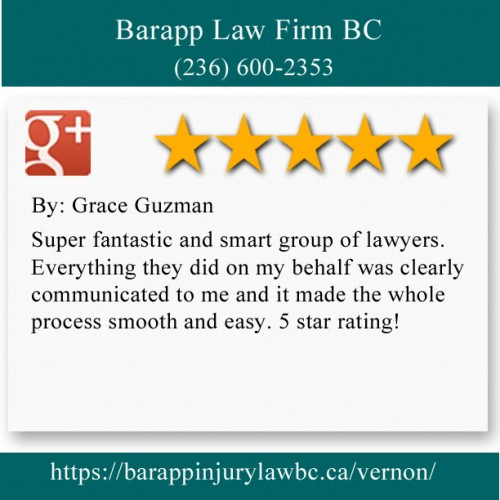 Barapp Law Firm BC 204-3306 32nd Ave Vernon, BC V1T 2M6 (236) 600-2353  https://barappinjurylawbc.ca/vernon/