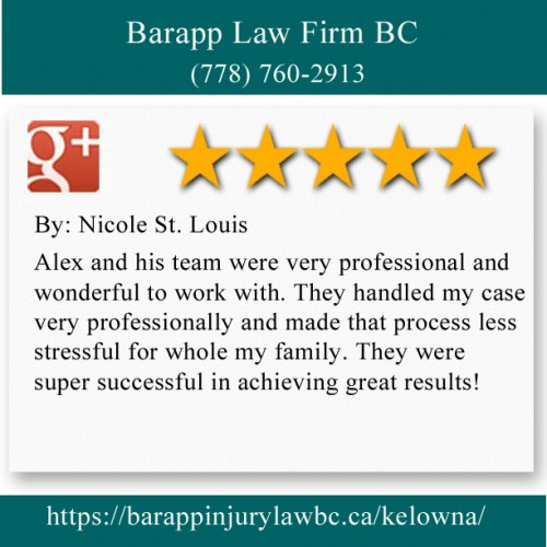 Barapp Law Firm BC 202D-5309 Main St Kelowna, BC V1W 4V3 (778) 760-2913  https://barappinjurylawbc.ca/kelowna/