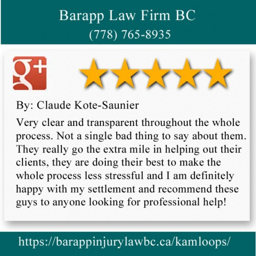 Barapp Law Firm BC 235 1 Ave #600 Kamloops, BC V2C 3J4 (778) 765-8935  https://barappinjurylawbc.ca/kamloops/