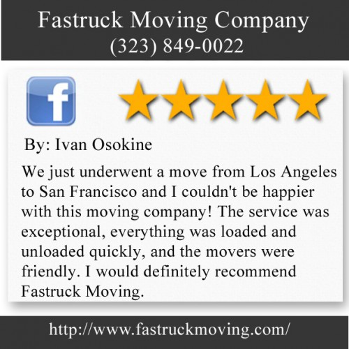 Fastruck Moving Company 11818 Riverside Dr Ste 118 Valley Village, CA 91607 (323) 849-0022  http://www.fastruckmoving.com/canoga-park-movers/