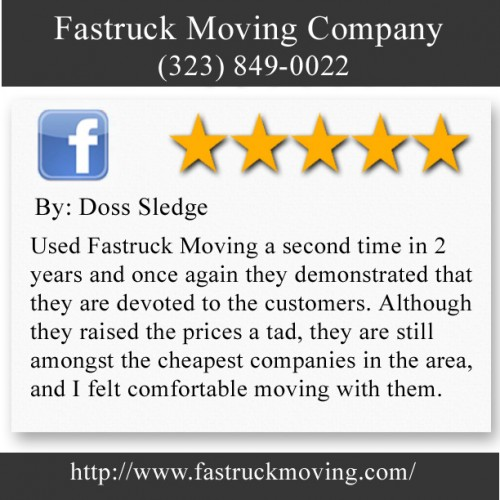 Fastruck Moving Company 11818 Riverside Dr Ste 118 Valley Village, CA 91607 (323) 849-0022  http://www.fastruckmoving.com/beverly-hills-movers/