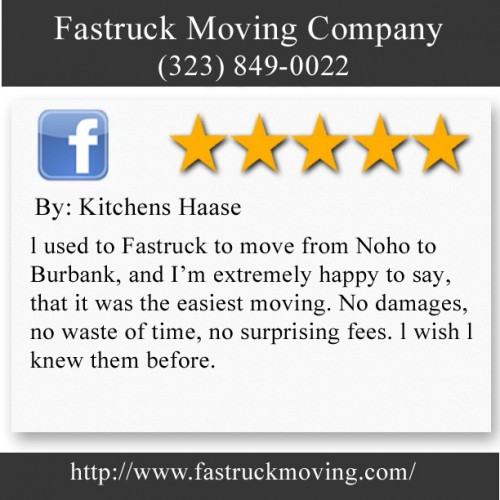 Fastruck Moving Company 11818 Riverside Dr Ste 118 Valley Village, CA 91607 (323) 849-0022  http://www.fastruckmoving.com/arcadia-movers/