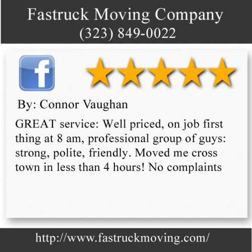 Fastruck Moving Company 11818 Riverside Dr Ste 118 Valley Village, CA 91607 (323) 849-0022  http://www.fastruckmoving.com/malibu-movers/