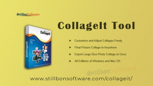 Use Collage Maker to make beautiful collages of our photos. It exports large-size pictures and provides pre-designed templates which make your photos even better by using grids. Visit Here:-https://www.stillbonsoftware.com/collageit/