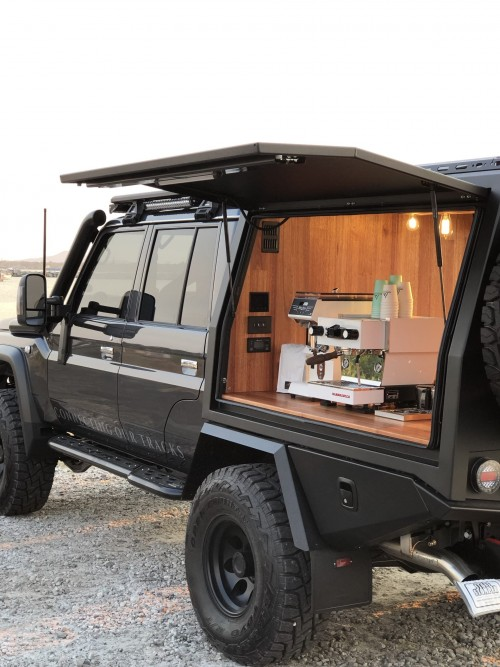 """ESPRESSO79 Is A Custom Built Toyota LandCruiser 79 Series, Which We Have Chosen To Use, Due To It Being An Icon Usually Known To Be The """"Unbreakable Farm Truck"""" That Is Loved By All Aussies For Not Only Being One Of The Best Work Horses In The Motor Vehicle Industry, But A Tuff And Rugged Tourer. This Choice Of Vehicle Also Provided Us The Opportunity To Collaborate With Some Of Australia's Best Known Manufactures And Installers To Showcase Their Products As We Travel Our Land And Assist In Providing Our Experience.  Visit us: https://www.espresso79.com.au/"""