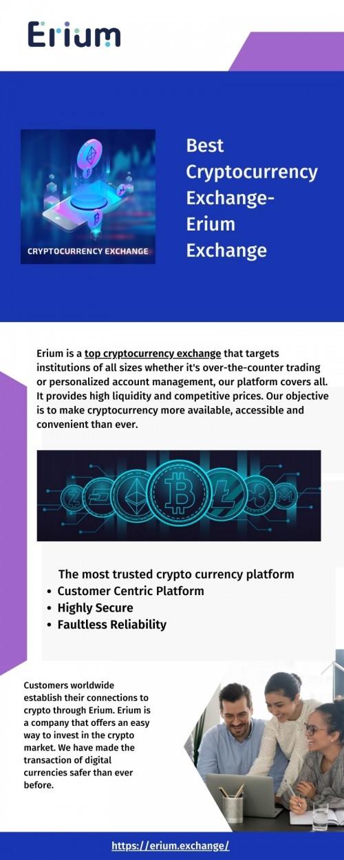 top crypto exchange Erium exchange